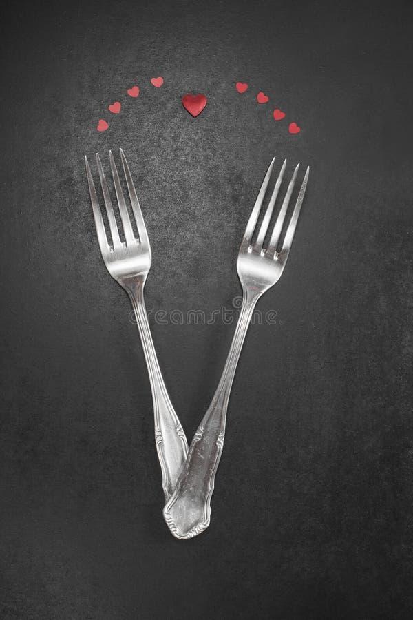 Valentijnskaartendiner royalty-vrije stock afbeeldingen