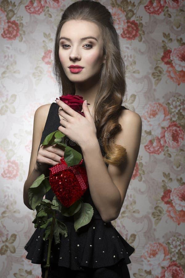 Valentijnskaartenmeisje royalty-vrije stock foto