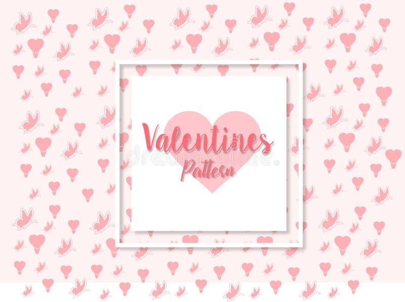 Valentijnskaartenpatroon ornament en kaartontwerp royalty-vrije stock foto
