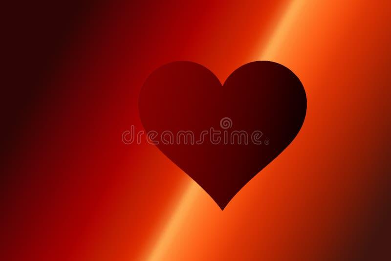 Valentim \ 'fundo do dia de s com forma vermelha do coração como o conceito do amor ilustração do vetor
