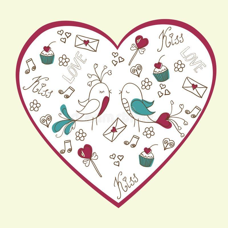 Valentim \ 'cartão do amor do dia de s foto de stock