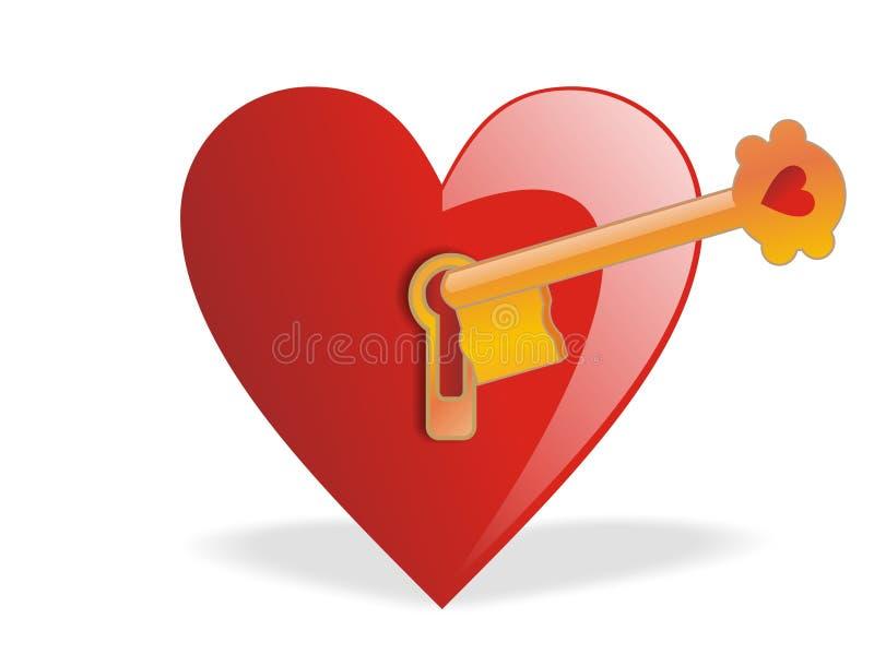Valentim - chave do amor ilustração royalty free