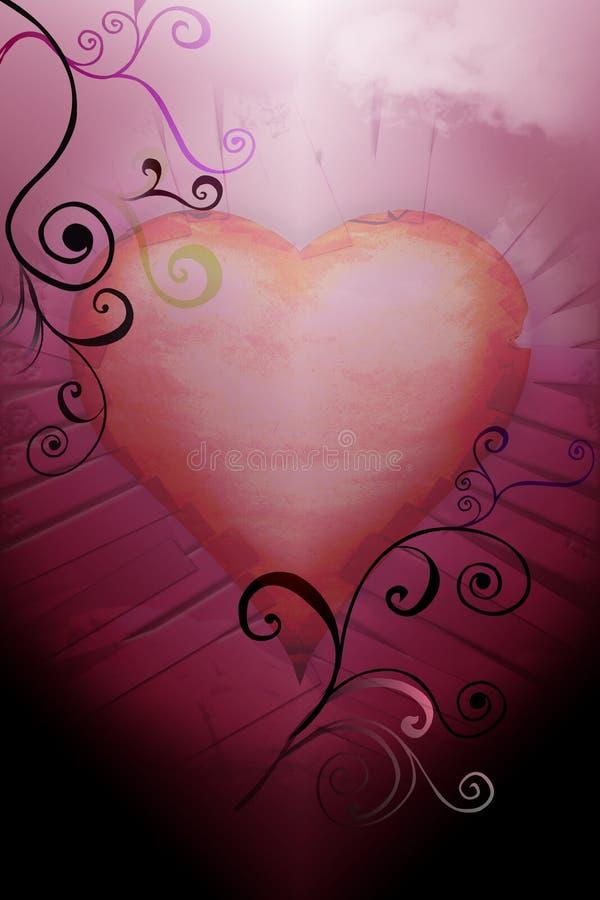 Valentim do coração fotografia de stock