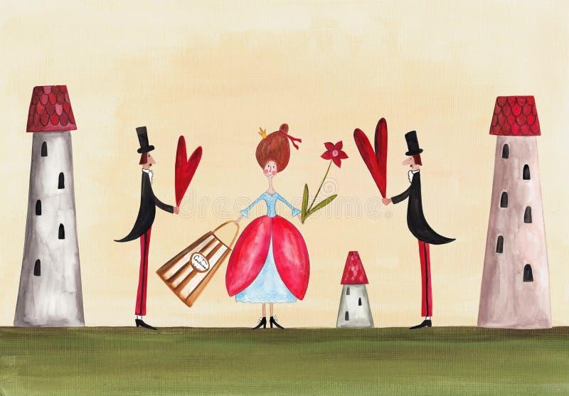Valentim doces. Cartão ilustração stock