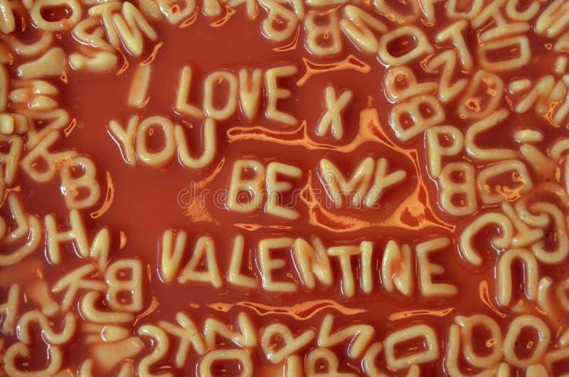 Valentim dos espaguetes foto de stock