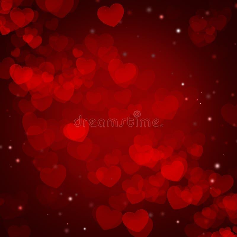 Valentim e dia do casamento Fundo ilustrado sumário com ilustração stock