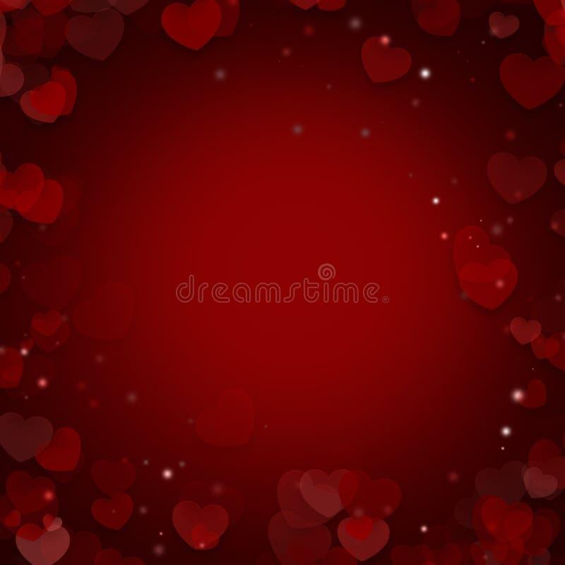Valentim e dia do casamento Fundo ilustrado sumário com ilustração royalty free