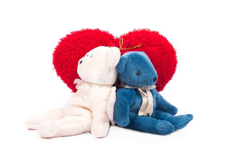 Download Valentim Vermelho Branco Do Coração Do Urso De Peluche Foto de Stock - Imagem de feriado, fundo: 65580802