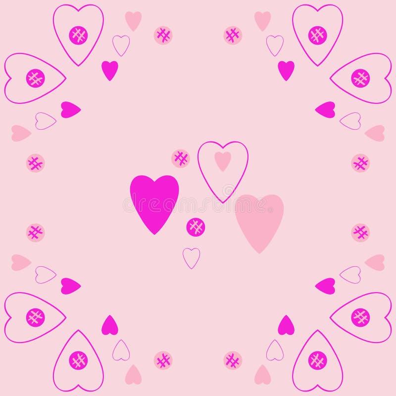 Valentin样式,心脏,椭圆,乱写 拉长的现有量 皇族释放例证