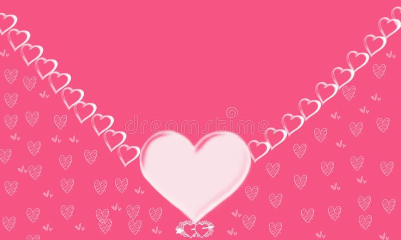 Valentin bakgrund för dagillustration vektor illustrationer