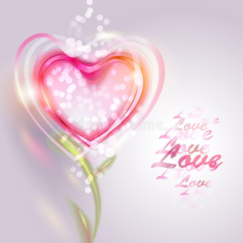 Valentin bakgrund för dagvektor royaltyfri illustrationer