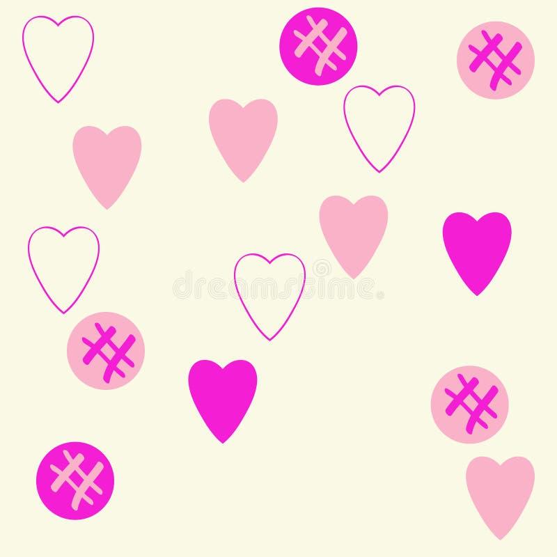 Valentin pattern,hearts,ellipses scribbles. Hand drawn. Valentin clored pattern,hearts,ellipses scribbles. Hand drawn royalty free illustration