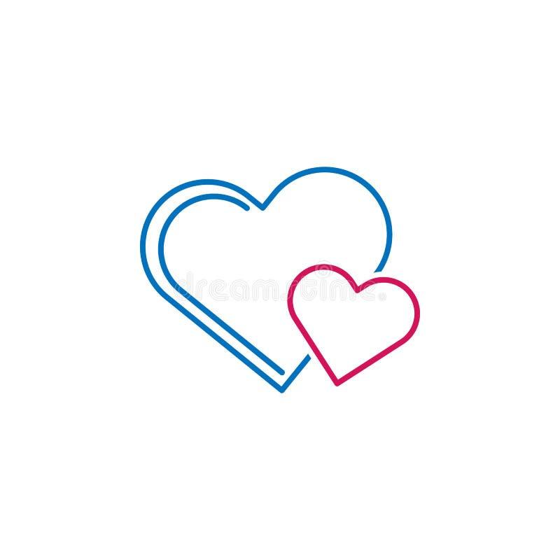 Valentin dag, hjärtasymbol Kan användas för rengöringsduken, logoen, den mobila appen, UI, UX stock illustrationer