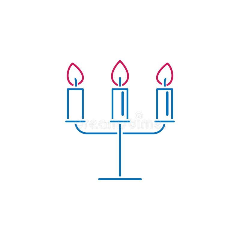 Valentin dag, ljusstake, stearinljussymbol Kan användas för rengöringsduken, logoen, den mobila appen, UI, UX royaltyfri illustrationer