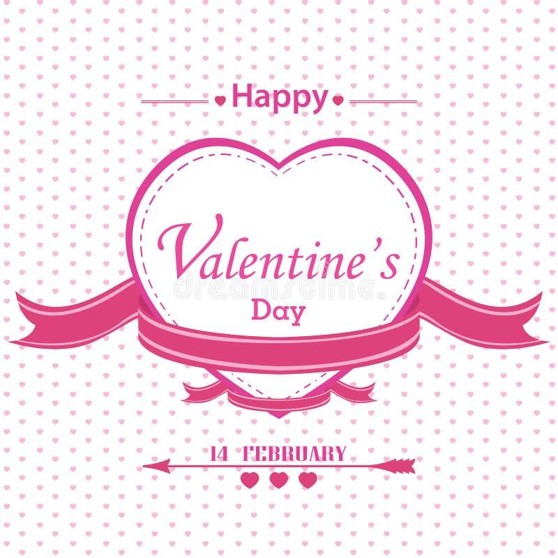 Valentin dag med full rosa hjärta som isoleras på vit bakgrund vektor illustrationer