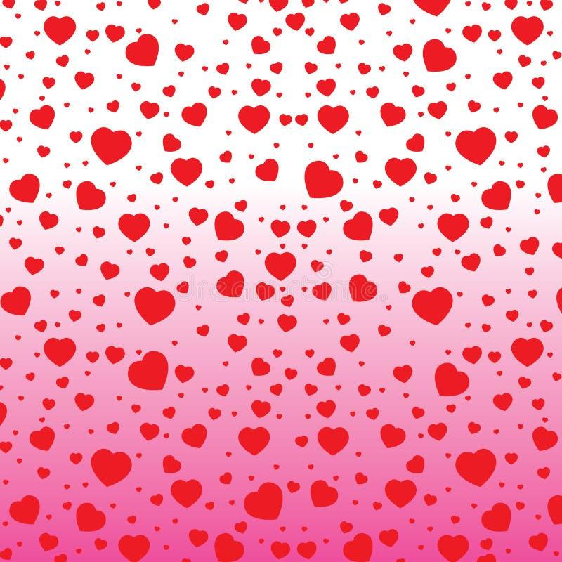 Valentin dag och röda hjärta på färgrik bakgrund Vektorvalentin dag på vit och rosa bakgrund royaltyfri illustrationer