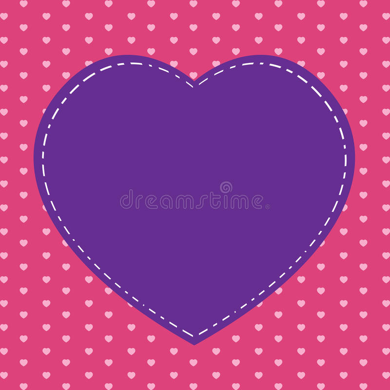 Valentin dag och rosa färghjärta på rosa bakgrund Stor rosa hjärta på ferie royaltyfri illustrationer