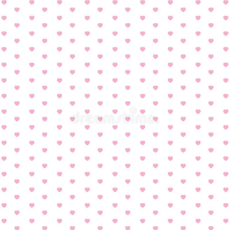 Valentin dag och rosa färghjärta som isoleras på vit bakgrund Vektorferie och rosa färghjärtabakgrund vektor illustrationer