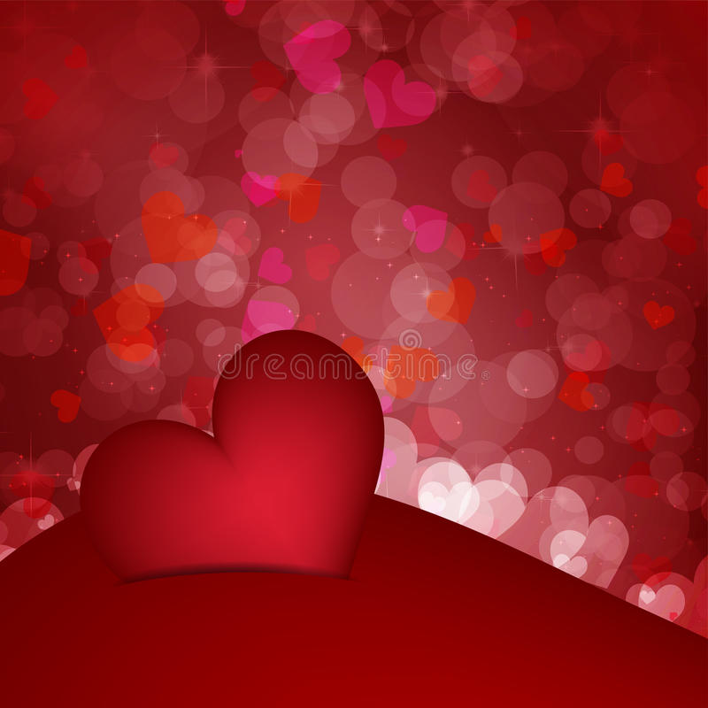 Valentin dagbakgrund stock illustrationer