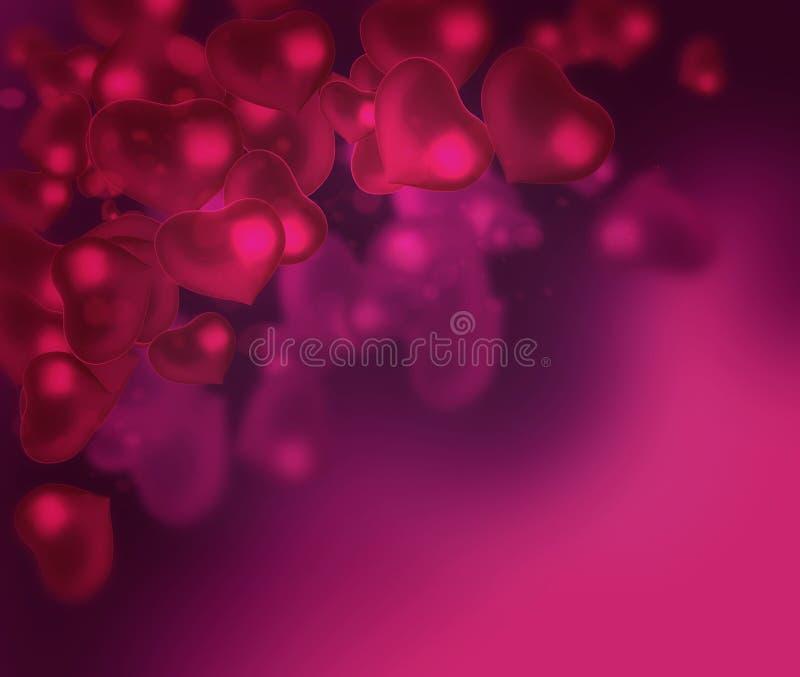 Valentin dagbakgrund med abstrakt bakgrund för hjärtor vektor illustrationer