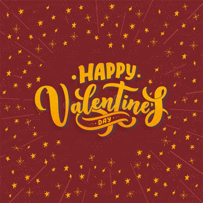 Valentin dagbokstäver för hälsningkortdesignen, romantisk illustration festlig garnering Svart inbjudankort för artikel med ensam stock illustrationer
