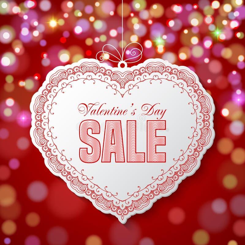 Valentin dagförsäljning stock illustrationer