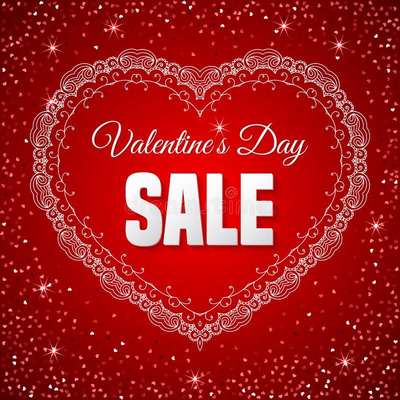 Valentin dagförsäljning royaltyfri illustrationer