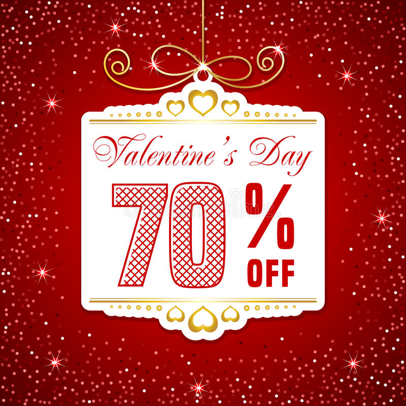 Valentin dagförsäljning vektor illustrationer