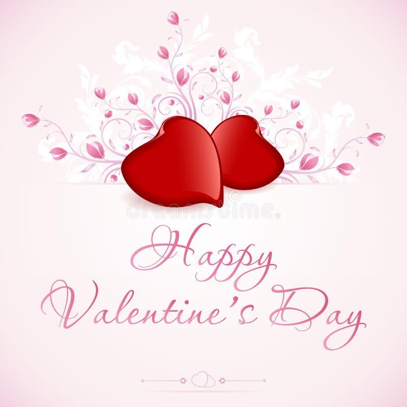 Valentin dagkort stock illustrationer