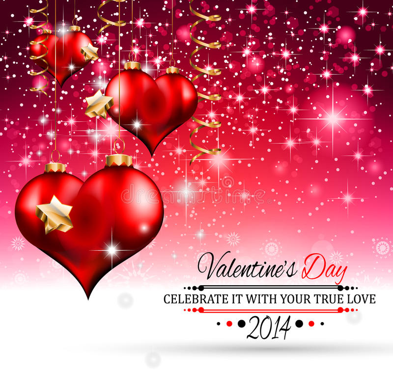 Valentin dagmall med att bedöva hjärtor stock illustrationer