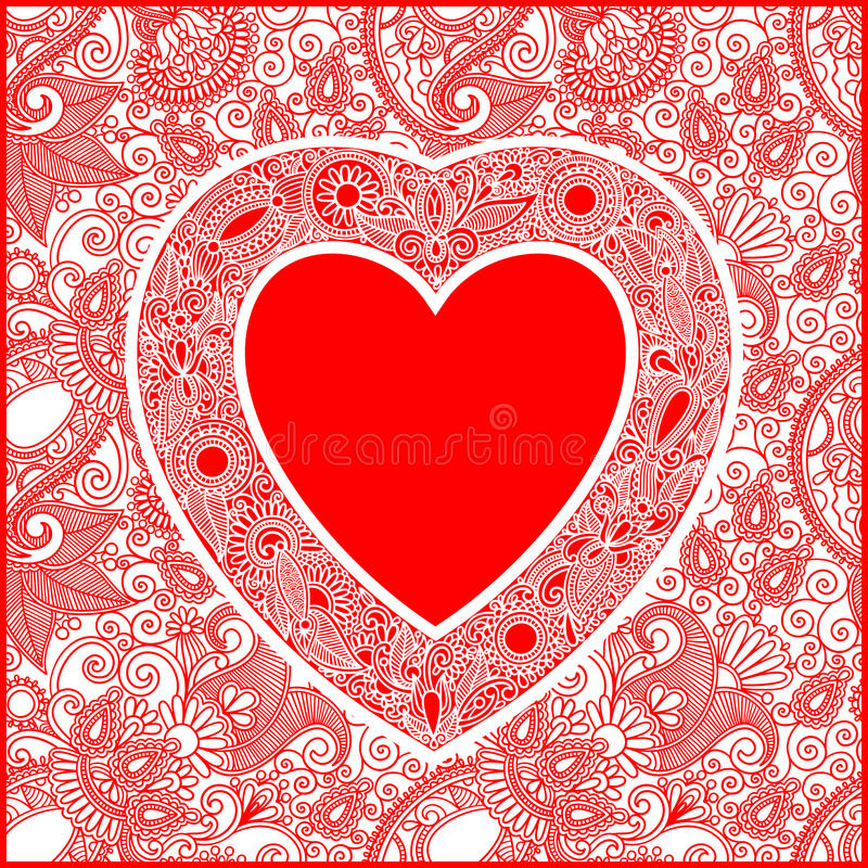 Download Valentin Day Card With Heart Stock Vector - Image: 25514488
