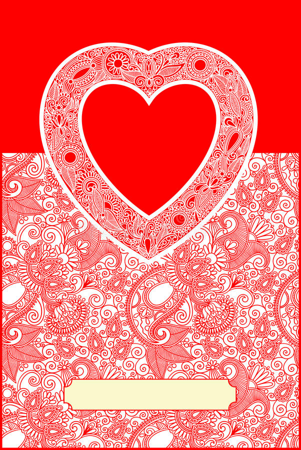 Download Valentin Day Card With Heart Royalty Free Stock Photos - Image: 25514668
