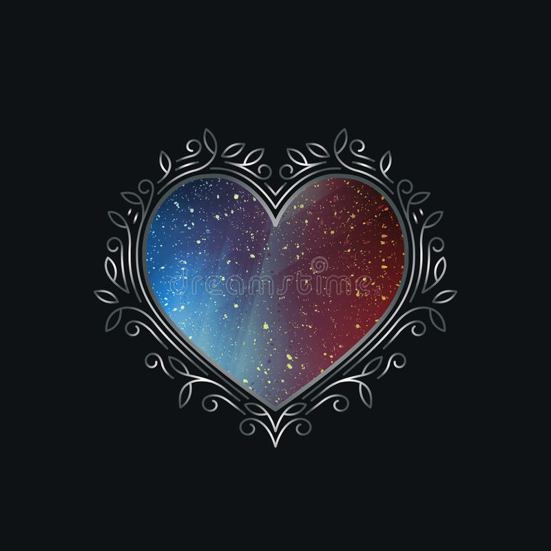 Valentin dekorativt symbol för dag stock illustrationer