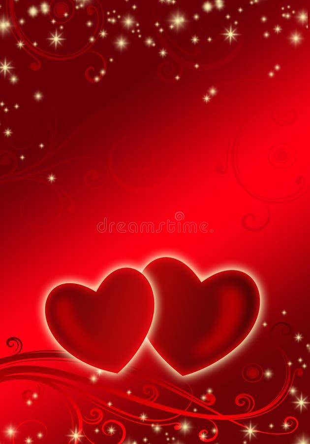 valentin för hjärta s för bakgrundspardag royaltyfri illustrationer