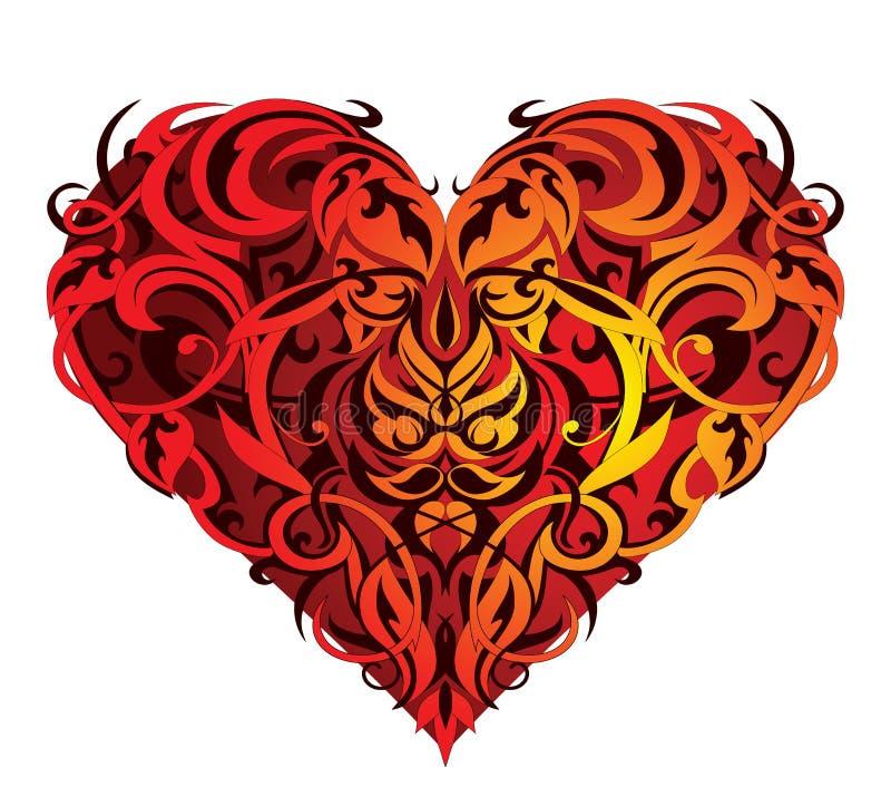 valentin för hjärtaformst stock illustrationer