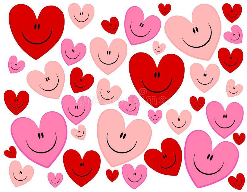 valentin för hjärtor s för bakgrundsframsida lycklig stock illustrationer