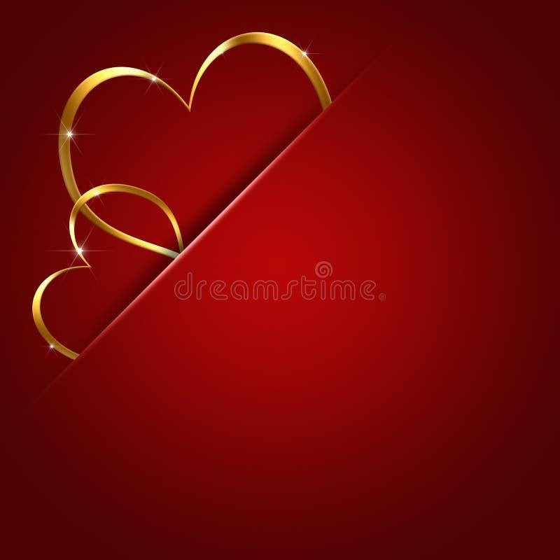 valentin för hjärtor två royaltyfri illustrationer