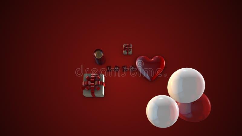 valentin för illustration s för dagdraw lycklig arkivbild