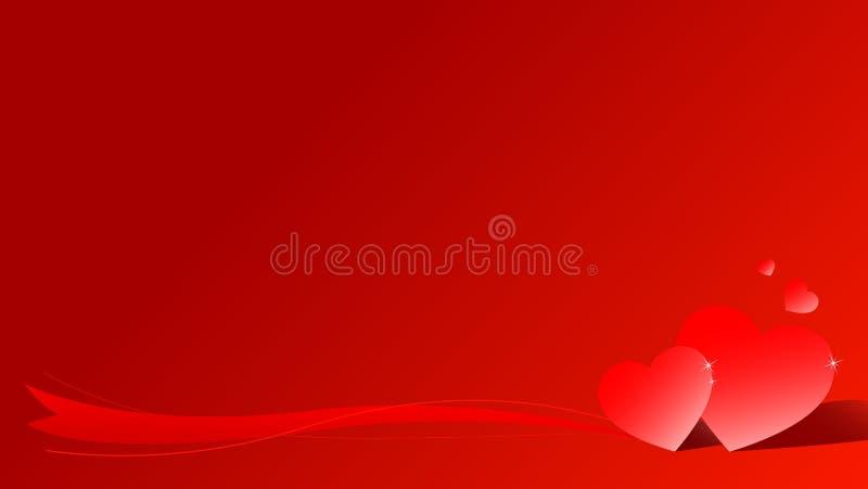 valentin för korthjärtaförälskelse s royaltyfri illustrationer