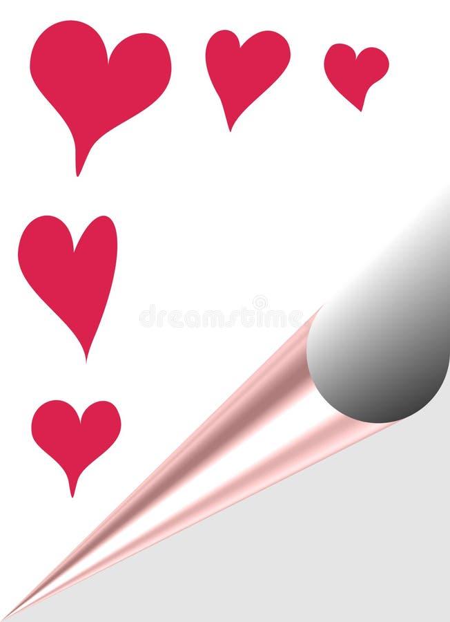 Valentin heart. Congratulation Valentin to like background with heart stock illustration