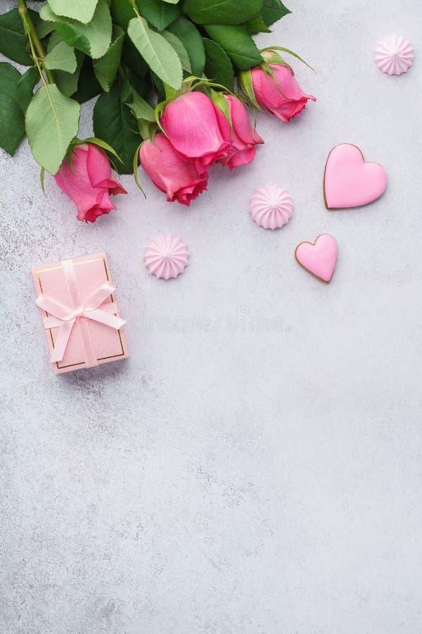 Valentin kort för daghälsning eller försäljningsmodell arkivfoton