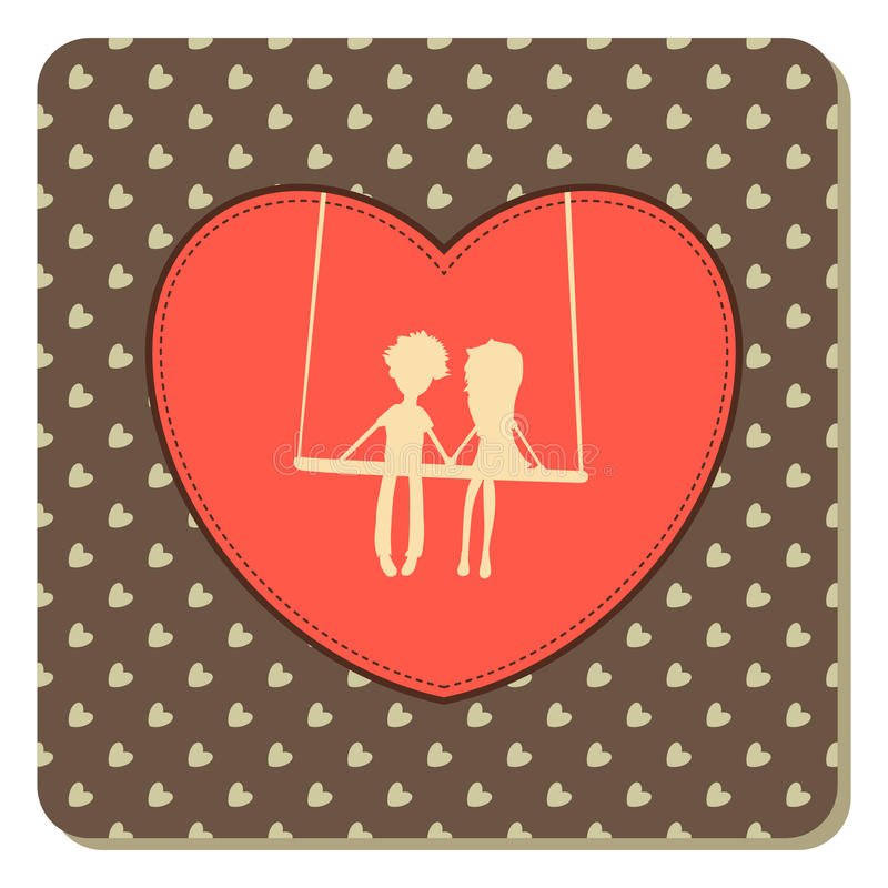 Download Valentin Kort För Dagtappning Vektor Illustrationer - Illustration av gammalt, formellt: 37346716