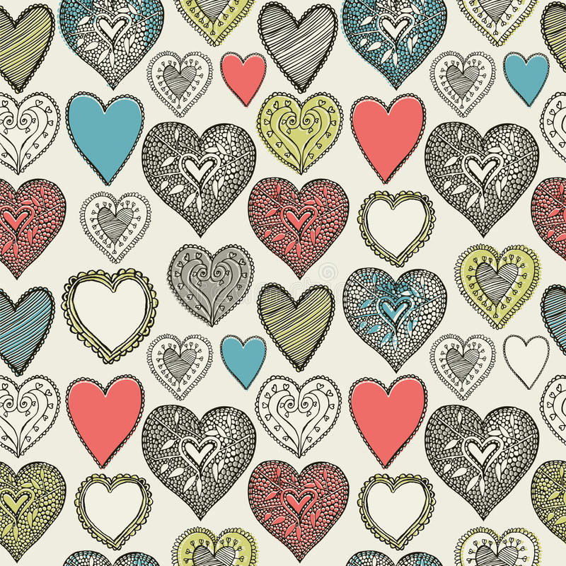 Valentin kort. Ugglapar. vektor illustrationer