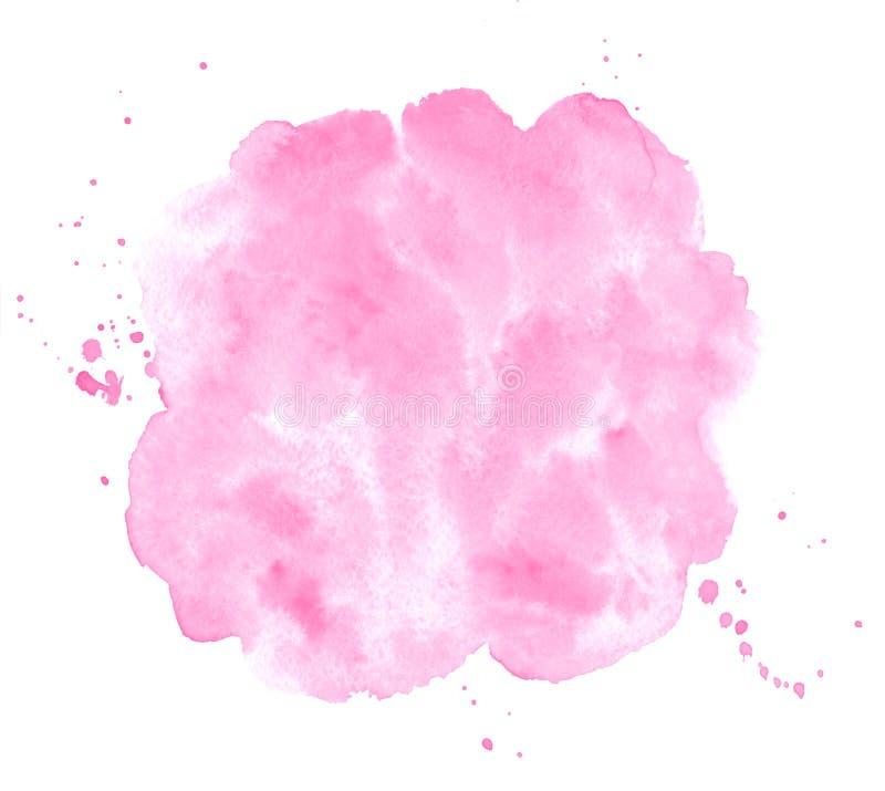 Valentin 8 mars, bakgrund för vattenfärg för kvinnadagrosa färger stock illustrationer