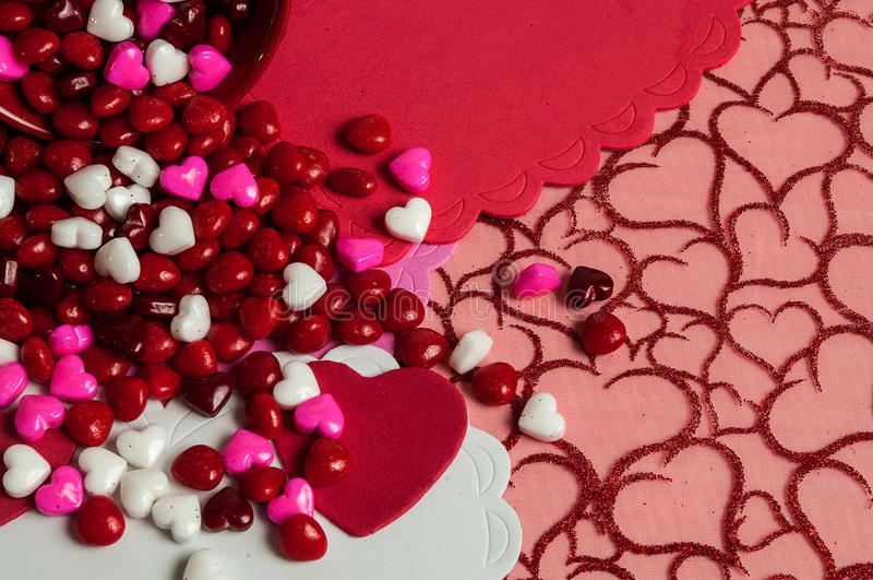 Valentin med godisen arkivbilder