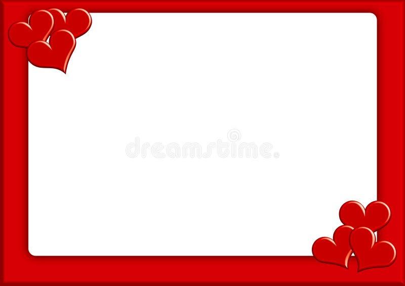 Valentin photoframe1 vektor illustrationer