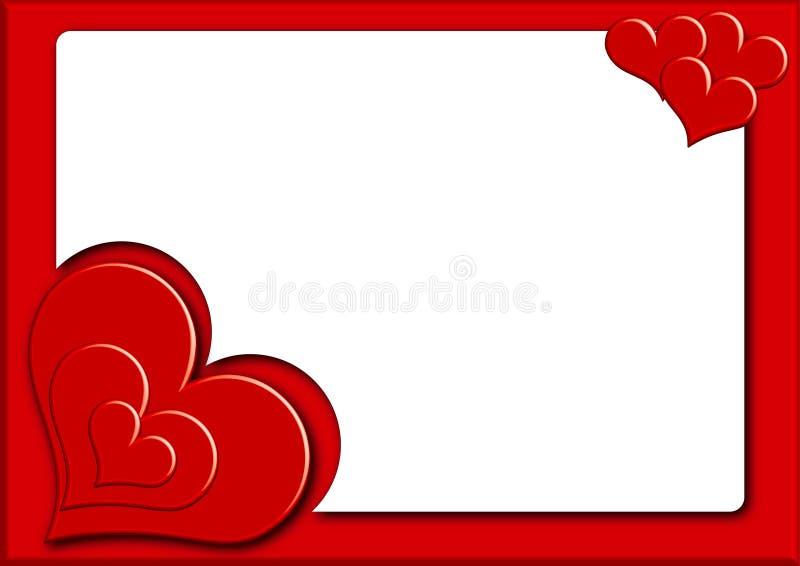 Valentin photoframe3 stock illustrationer