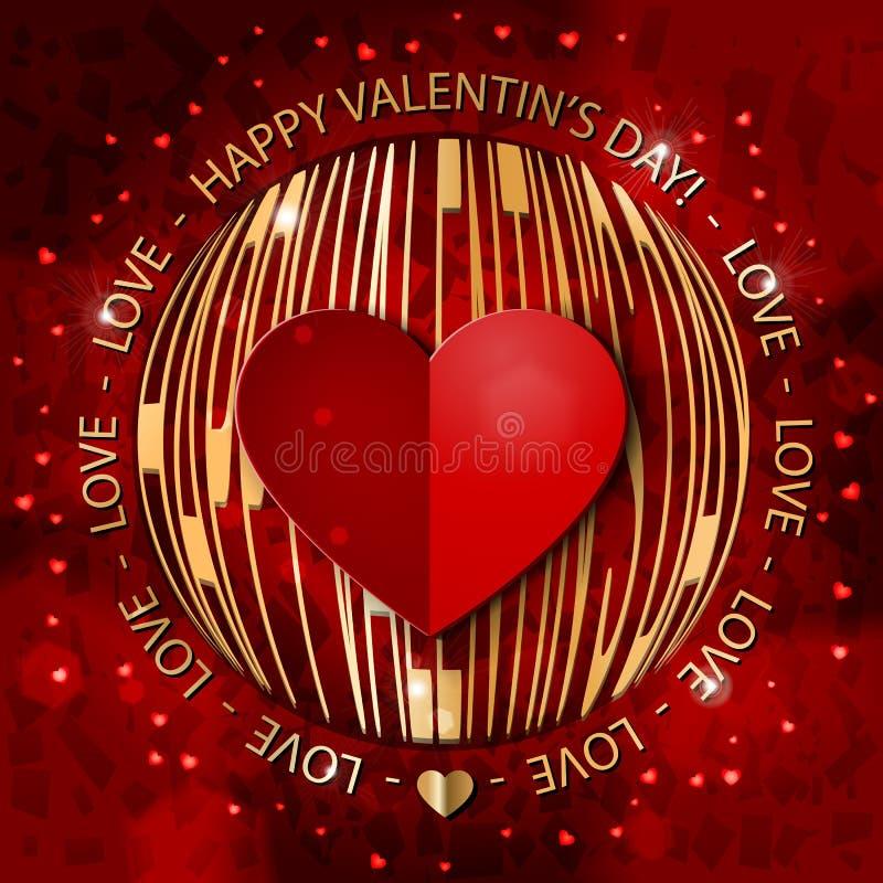 Valentin-` s Tagesgrußkarte vektor abbildung