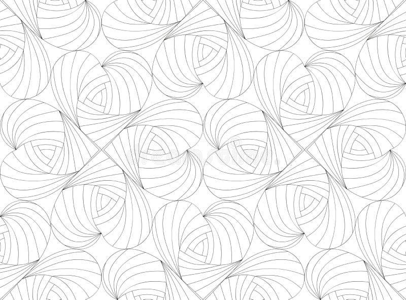 Valentin senza cuciture del modello Illustrazione di vettore immagini stock
