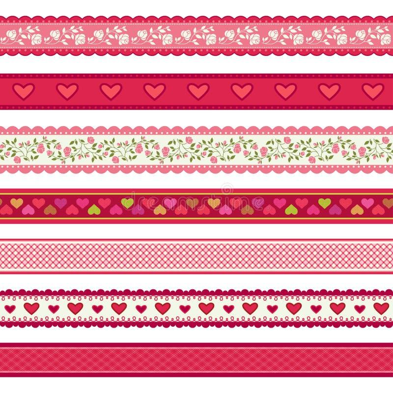 Valentin uppsättning för dagband royaltyfri illustrationer